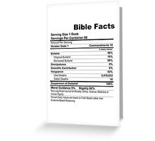Bible Facts (stickers) Greeting Card