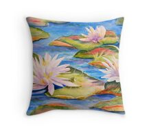"""Waterlilies"" Throw Pillow"