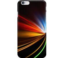 rapid race of night highway iPhone Case/Skin