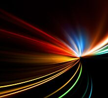 rapid race of night highway by Orderposter