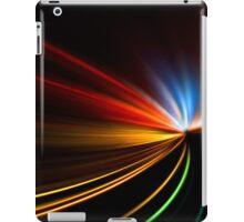rapid race of night highway iPad Case/Skin