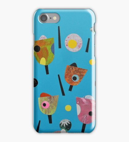 Turquoise Retro Seed Heads iPhone Case/Skin