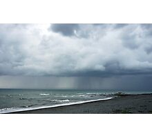 Dark clouds over Aber Photographic Print