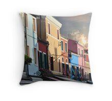 Veniese Street Scene Throw Pillow