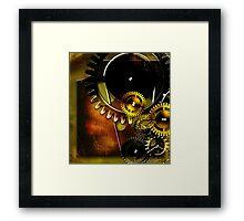abstract steampunk machine mechanism Framed Print