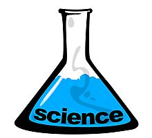 Science Beaker Blue Photographic Print