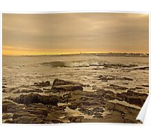 Sunrise at Whitley Bay Poster