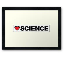Love Science Framed Print