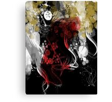 woman in the wind dark version Canvas Print