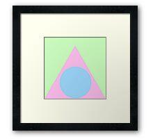 Pastel Shapes Framed Print