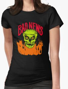 BAD NEWS logo Comic Strip Presents Womens Fitted T-Shirt