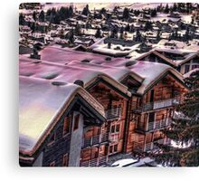 The Lights Bounce Brightly in Verbier (HDR) Canvas Print