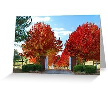 A fallen leaf is nothing more than summers wave good bye Greeting Card