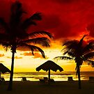 Sunset over Playa del Carmen, MEXICO by Bruno Beach