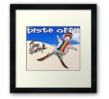 Baaad Sheep Piste Off! Framed Print