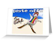 Baaad Sheep Piste Off! Greeting Card