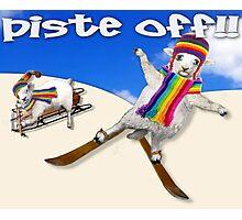 Baaad Sheep Piste Off! Photographic Print