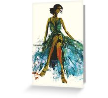 Green dress for a Green Day Greeting Card