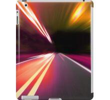 acceleration speed motion on night road iPad Case/Skin