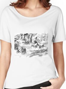 Girl near watercourse Women's Relaxed Fit T-Shirt