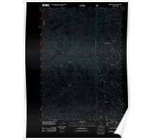 USGS Topo Map Idaho Monroe Butte 20110817 TM Inverted Poster