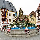 Easter fountain at Volkach am Main, Germany. by David A. L. Davies