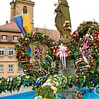 Easter fountain at Volkach am Main, Germany, by David A. L. Davies