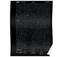 USGS Topo Map Oregon King Mountain 20110831 TM Inverted Poster