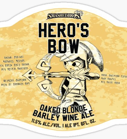 Smashed Bros. Hero's Bow Oaked Blonde Barley Wine Ale (#3) Sticker