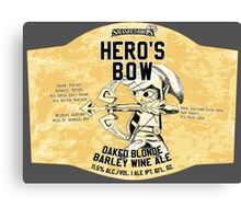 Smashed Bros. Hero's Bow Oaked Blonde Barley Wine Ale (#3) Canvas Print