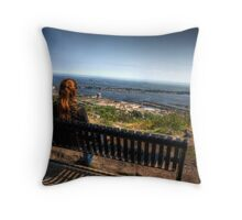 Bench With A View Throw Pillow