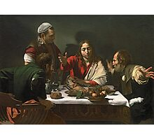 The Supper at Emaus, 1601 by Caravaggio Photographic Print
