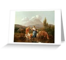 Holy Family at a Stream by Karel Dujardin Greeting Card