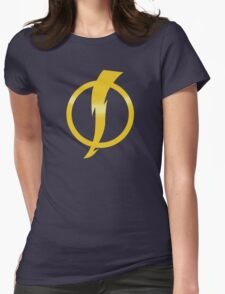 Static Shock Logo Womens Fitted T-Shirt