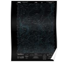 USGS Topo Map Oregon Quail Prairie Mountain 20110809 TM Inverted Poster