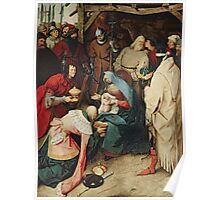 The Adoration of the Kings, 1564 by Bruegel Poster