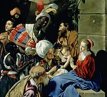 The Adoration of the Kings, 1612 by Maino or Mayno by Bridgeman Art Library