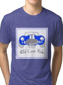 'Old Cars Rule'AC Cobra 427 Tri-blend T-Shirt