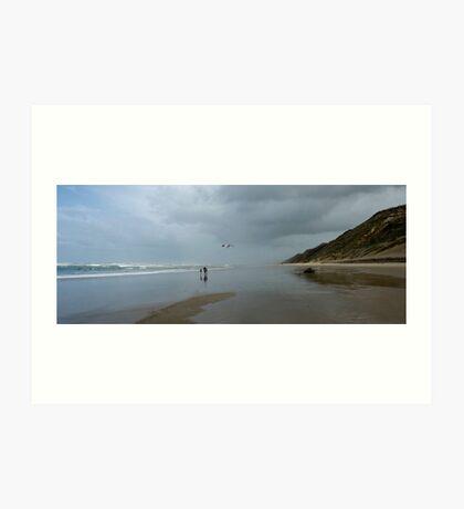Home Sweet Home - Baylys Beach NZ Art Print