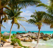 Tulum Beach, South of Cancun, MEXICO Sticker