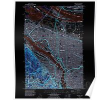 USGS Topo Map Oregon Portland 281137 1990 24000 Inverted Poster