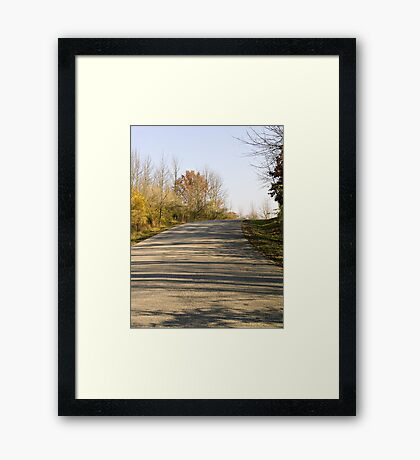 Curved Path in the Park Framed Print