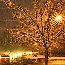 """A Snowy Evening in Knoxville"" (a series, no.3) by © Bob Hall"