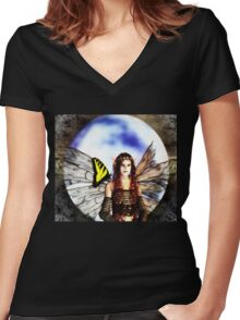 The Maidens Moon Women's Fitted V-Neck T-Shirt