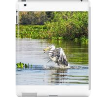 Cocoi Heron with catch iPad Case/Skin