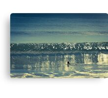 Wave reflections Canvas Print