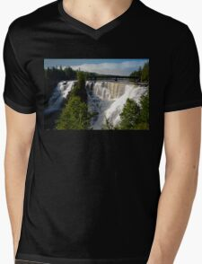 Kakabeka Falls Ontario Mens V-Neck T-Shirt