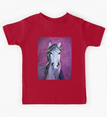 Stellar Whimsical Horse Art by Valentina Miletic Kids Tee