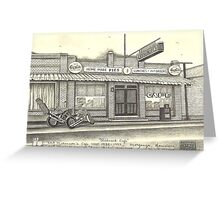 Easy Rider's Melancon's Cafe', circa 1938-1997 Greeting Card