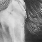 &quot;Eyes of Epona&quot; Close up of a Horse by iLovePencils